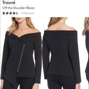 Trouvè off the shoulder blazer